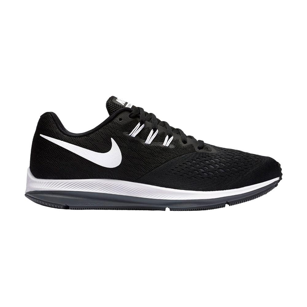 Zapatillas Hombre Nike Zoom WINFLO WINFLO 4 898466-001 - 8.5 Negro Blanco c97a264a28c5a