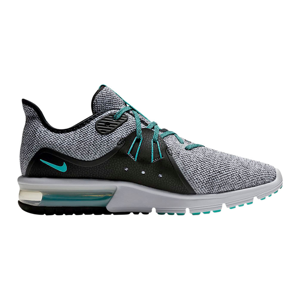 22ef2df8a39e2 Zapatillas Nike AIR MAX SEQUENT 3 921694-100 Gris Negro - passarelape