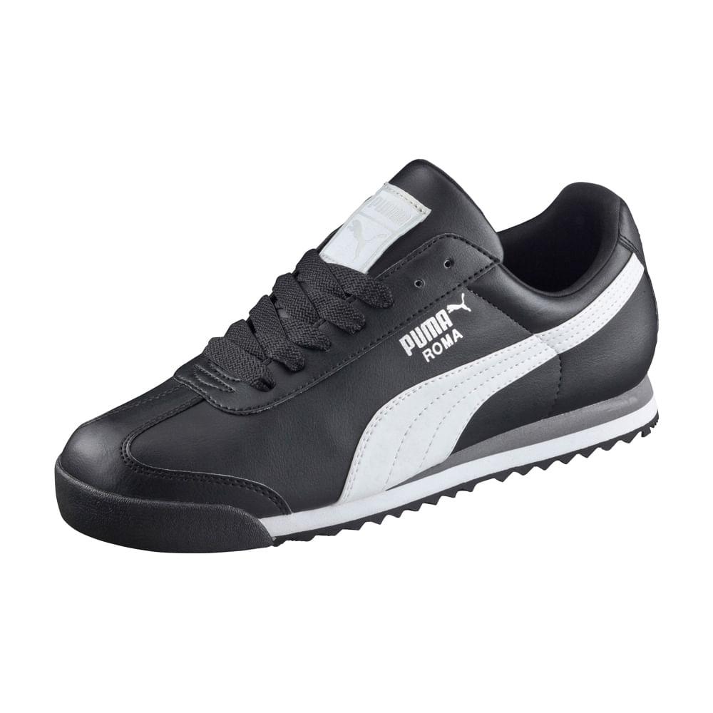 0df3e8c9a205 Zapatillas Puma ROMA BASIC 353572 11 Negro/Blanco - footloose