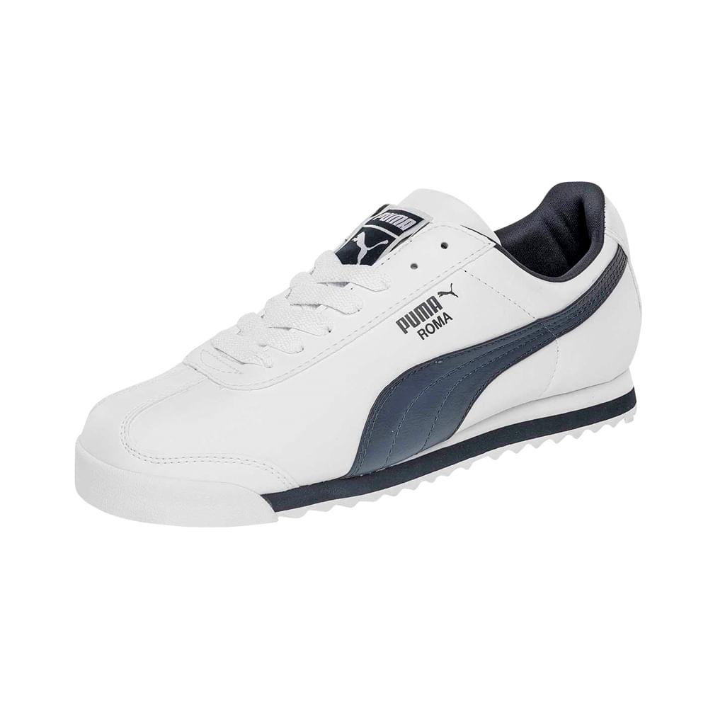19c59de5ebd5 Zapatillas Puma ROMA BASIC 353572 12 Blanco - footloose