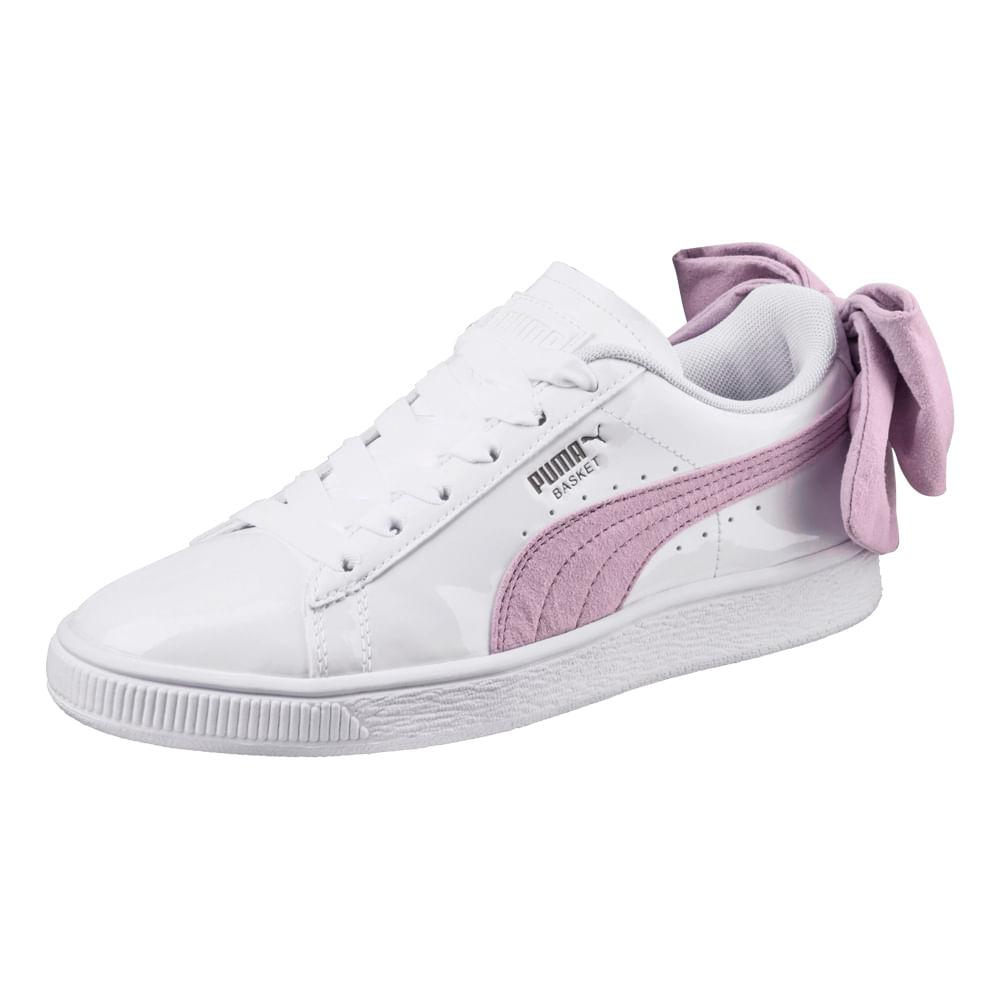 zapatillas puma basket blancas mujer