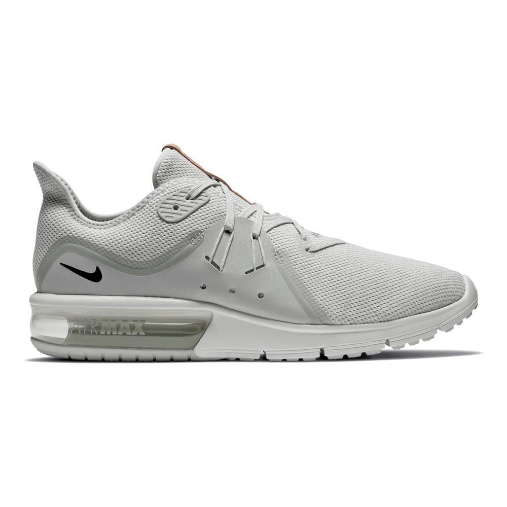 eacc30f2f76 Zapatillas Nike AIR MAX SEQUENT 921694-008 Gris - passarelape