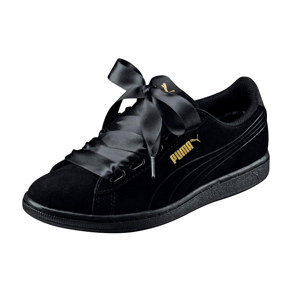 9f6030fc Zapatillas Puma VIKKY RIBBON 366416 01 Negro - passarelape