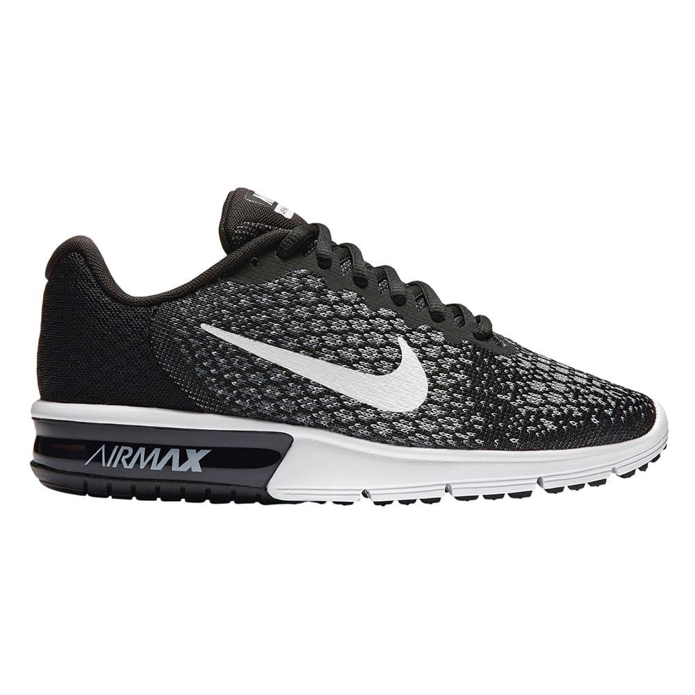 0df71480dee Zapatillas Nike AIR MAX 852465-002 Negro Blanco - passarelape