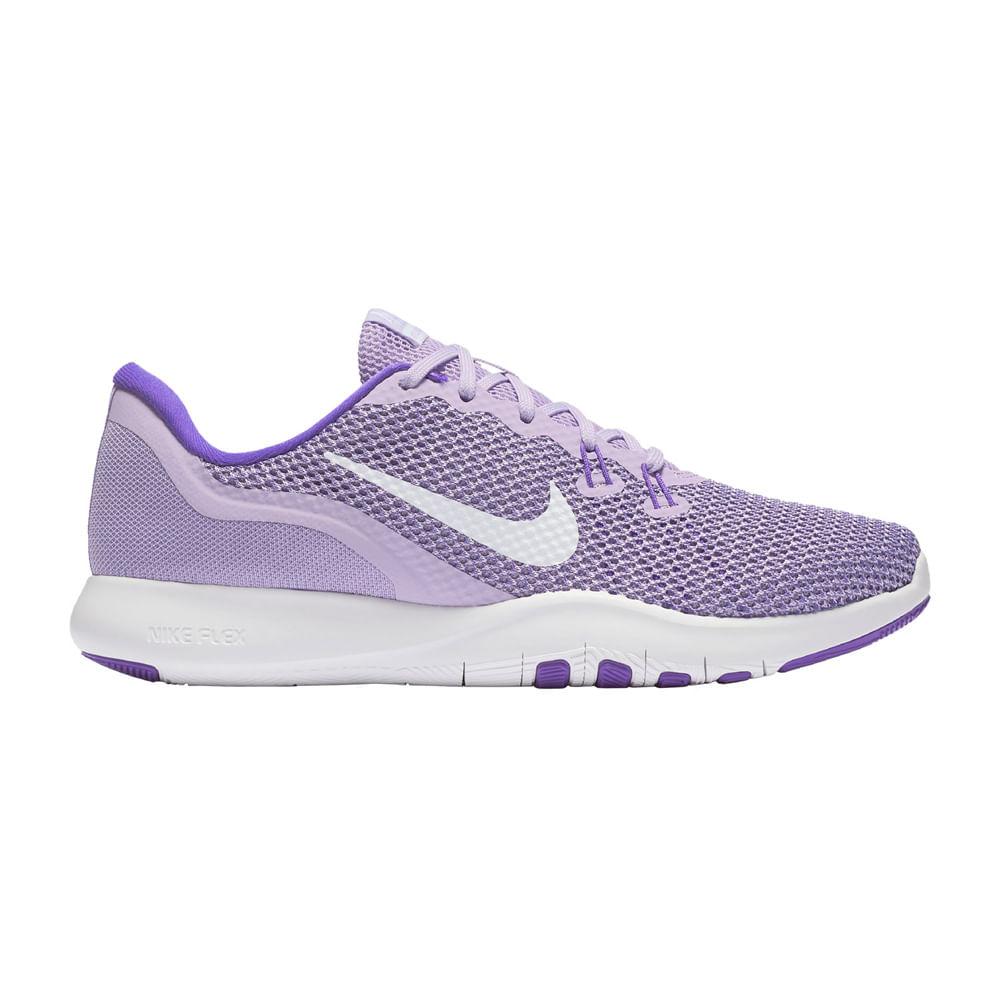 396226cf41e Zapatillas Nike FLEX TRAINER 7 898479-500 Lila Blanco - passarelape