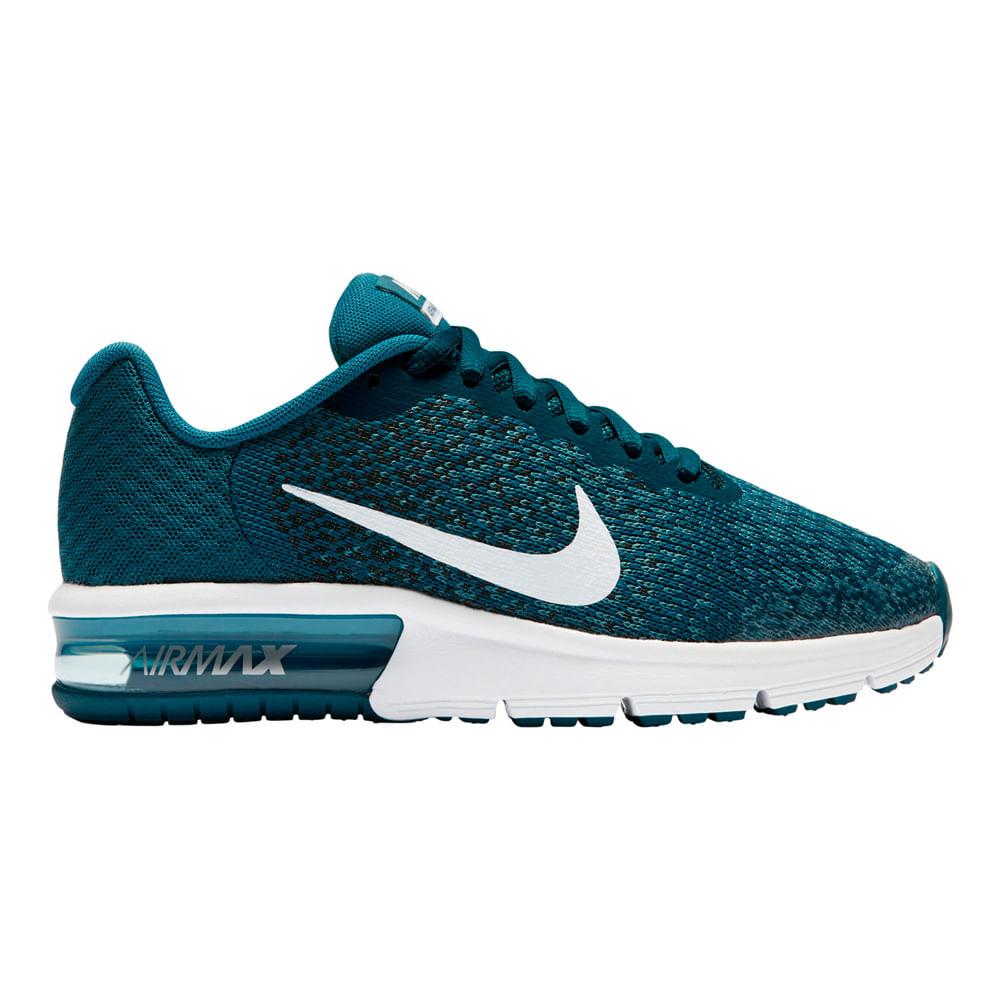 4a115ff2d Zapatillas Nike AIR MAX SEQUENT 869993-403 Azul Blanco - passarelape