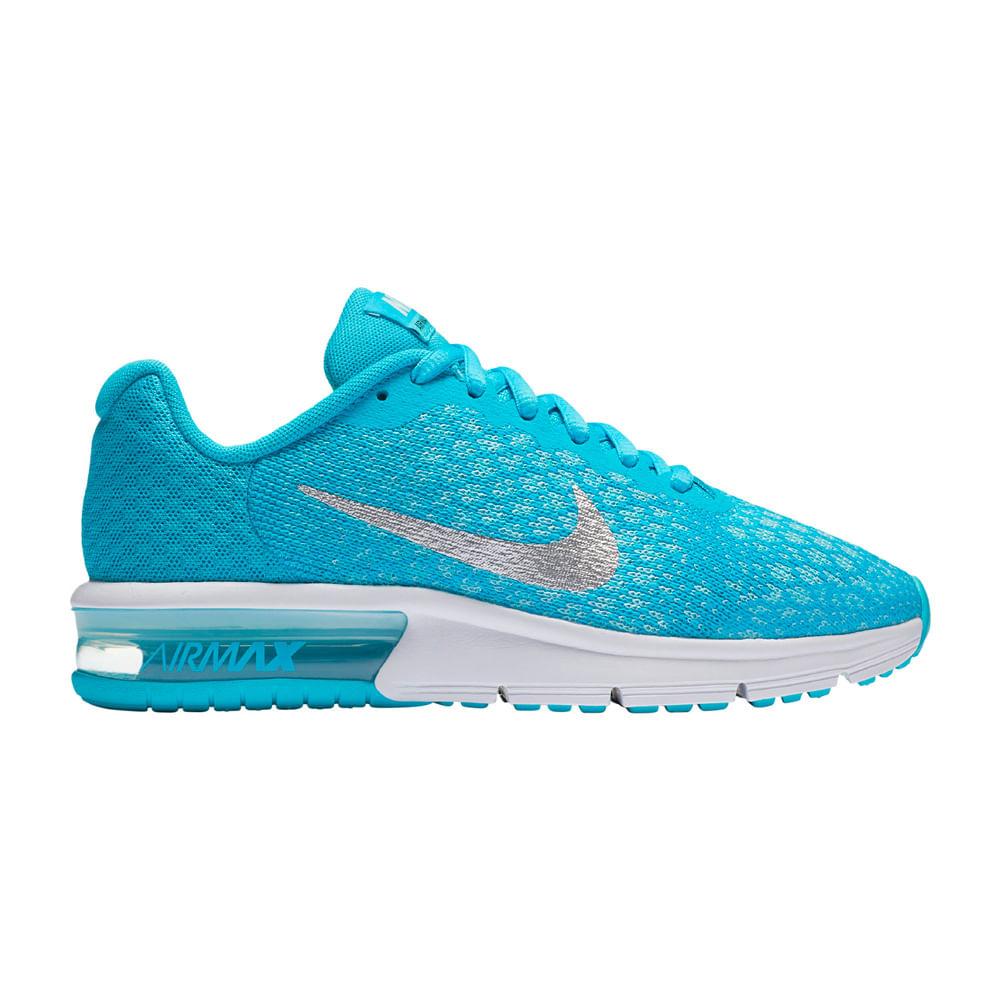 c90f0e505 Zapatillas Nike AIR MAX SEQUENT 869994-401 Celeste Blanco - passarelape