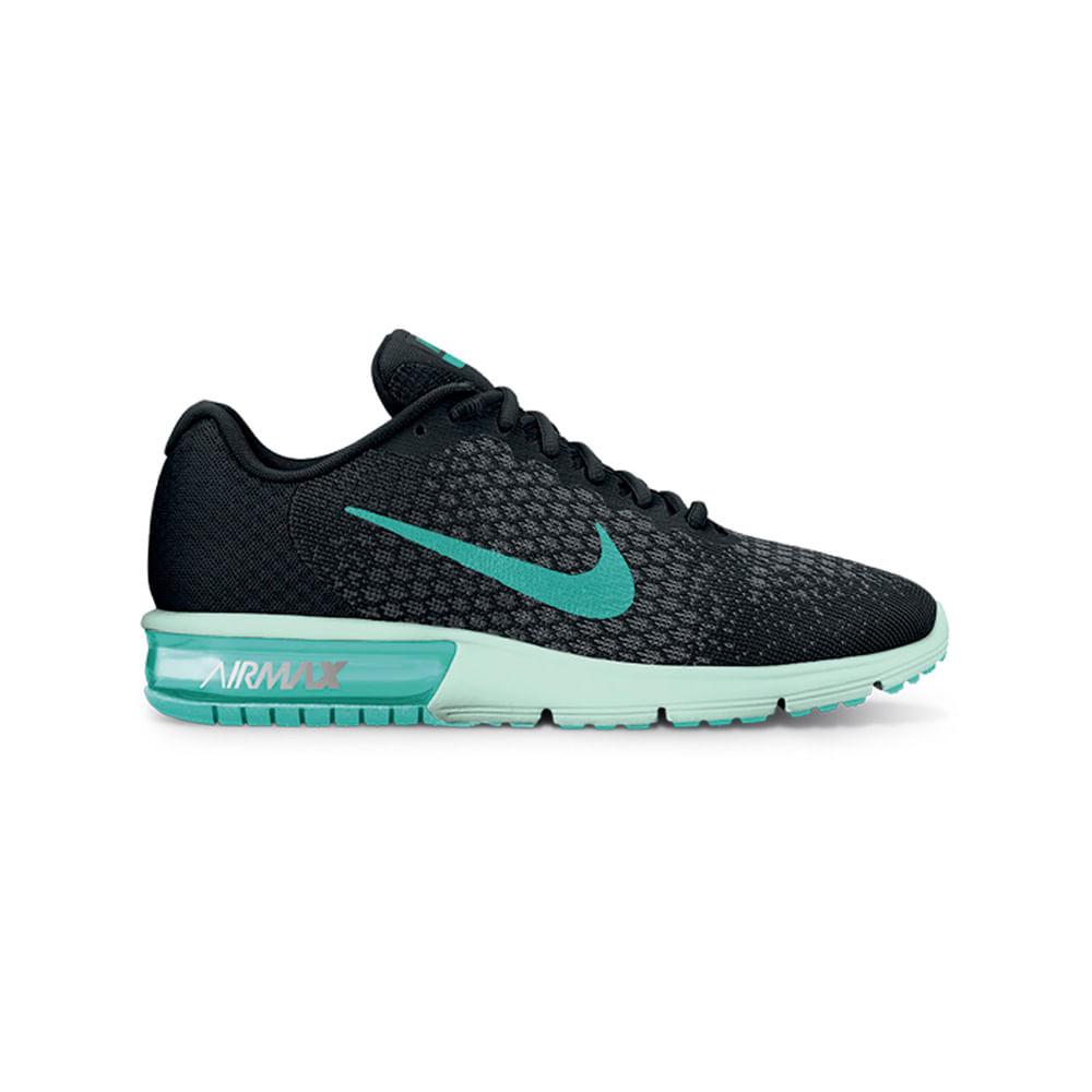 712cbfd6e80 Zapatillas Nike AIR MAX SEQUENT 2 852465-009 Gris Verde - passarelape