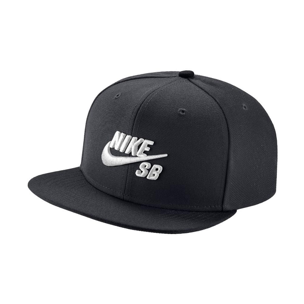 b0b5ec6b64ce7 Gorras Nike SB ICON 628683-013 Negro Blanco - passarelape