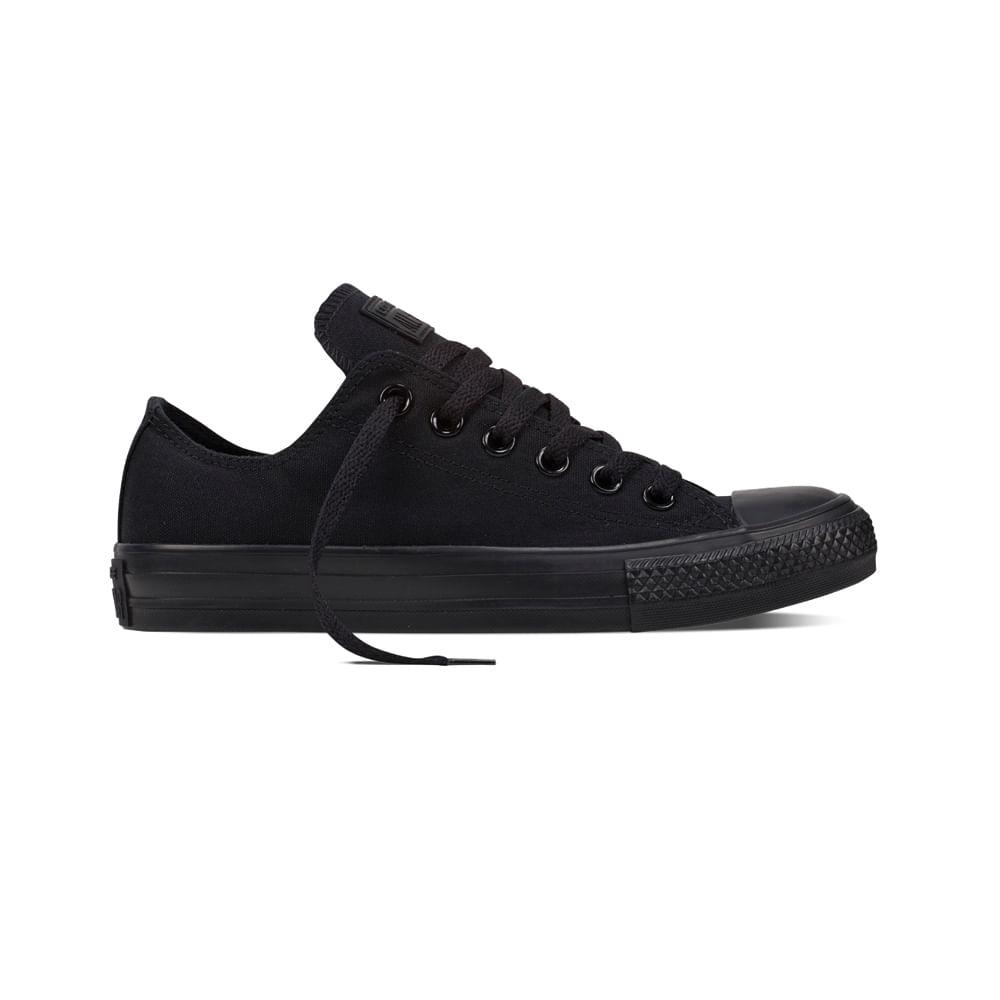 zapatillas converse negro