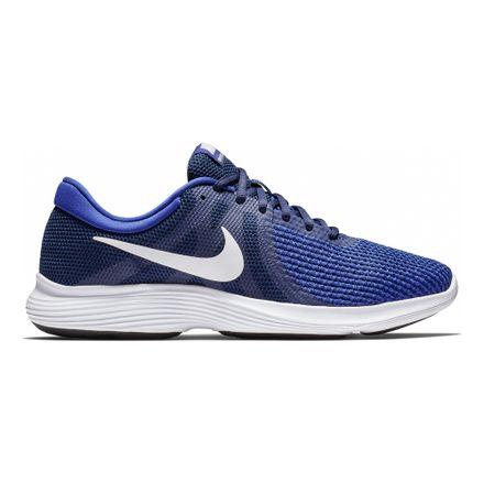 zapatillas nike blancas y azules