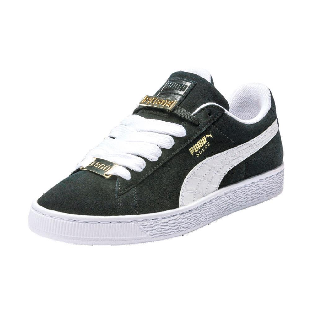cb6179d20a6 Zapatillas Puma SUEDE CLASSIC 365362 01 Negro Blanco - passarelape