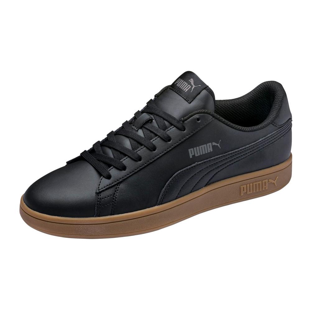 Zapatillas Puma Smash v2 L blanco negro