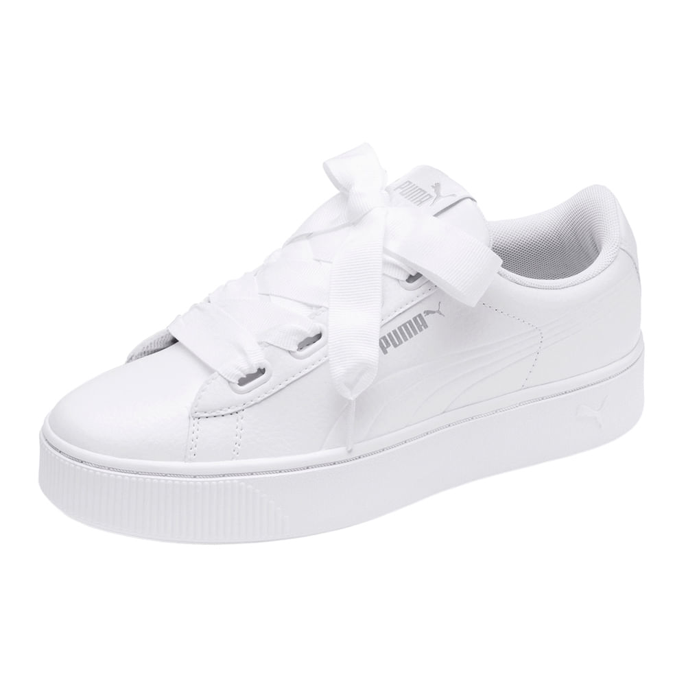 b3bd26c18 Zapatillas Puma PUMA VIKKY STACKED RIBBON CORE 369112 02 Blanco ...