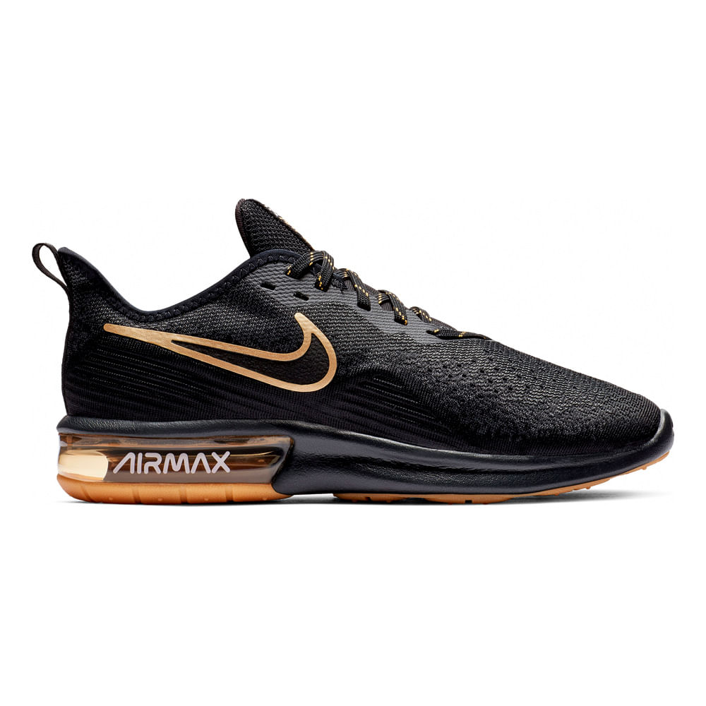 2d215524156 Zapatillas Nike NIKE AIR MAX SEQUENT 4 AO4485-005 Negro - passarelape
