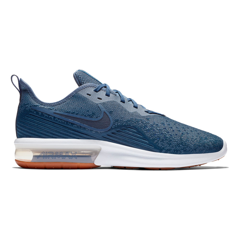 35f8421df8a Zapatillas Nike NIKE AIR MAX SEQUENT 4 AO4485-400 Azul - passarelape