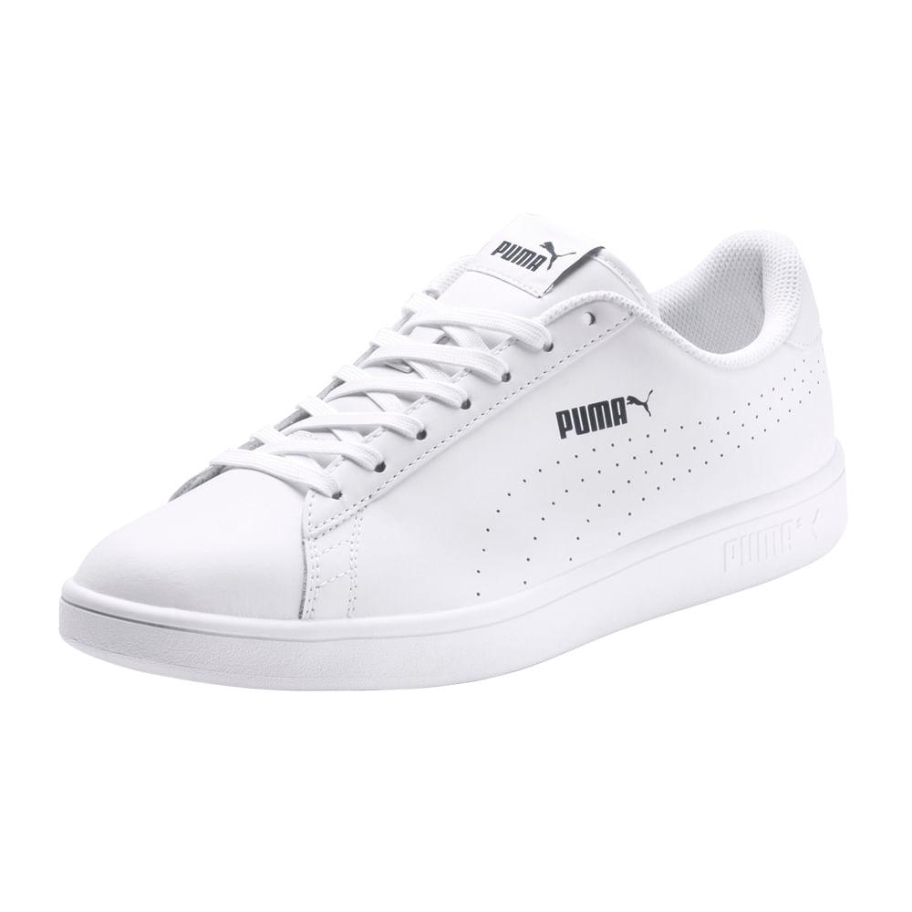 b9d0efa89 Zapatillas Puma SMASH V2 365213 02 Blanco - passarelape